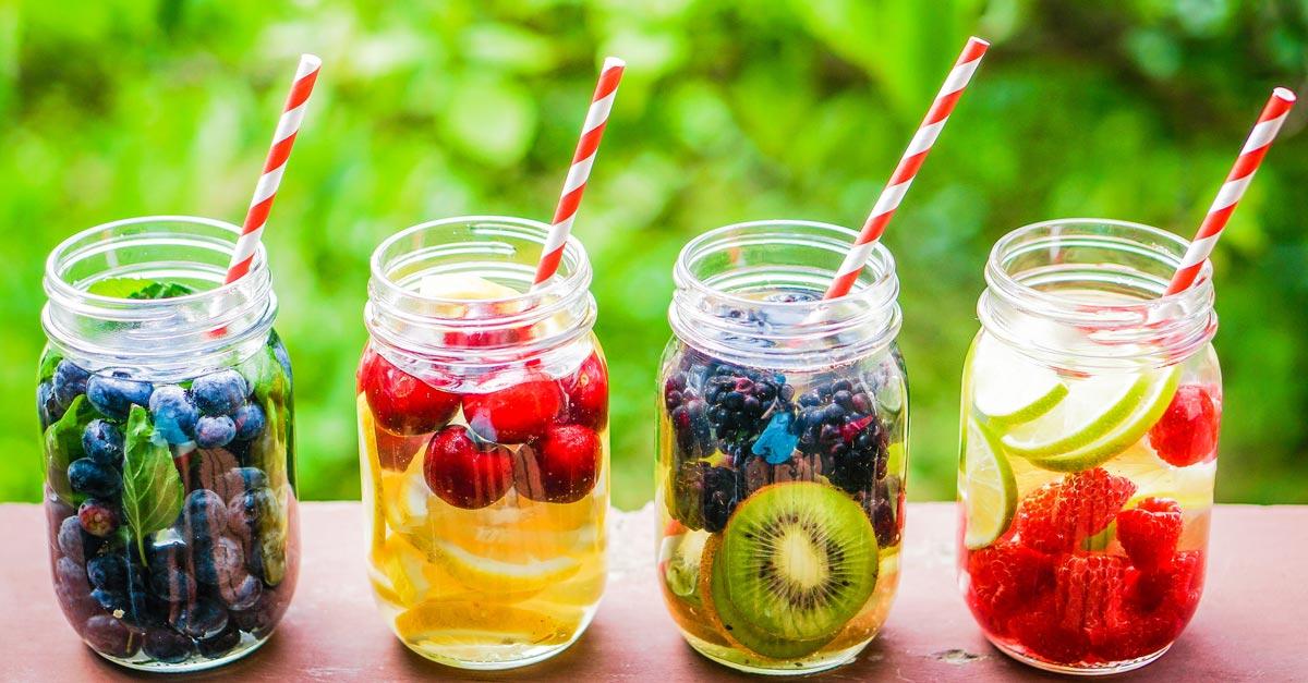 14 recettes de detox water